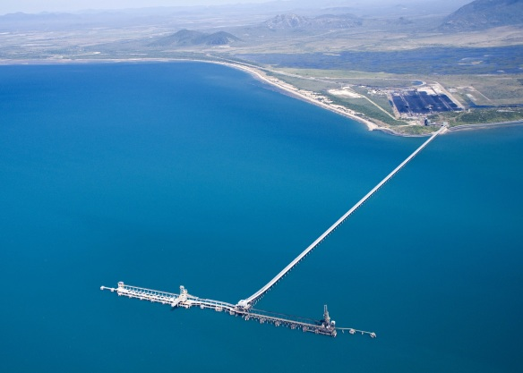 Aerial view Abbot Point T2 and T3