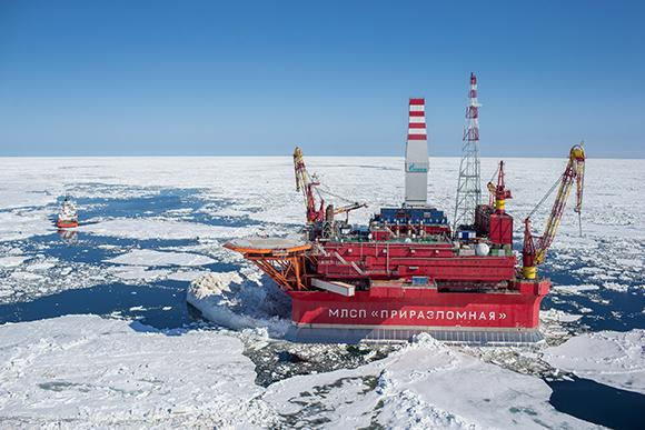 Gazprom's Prirazlomnaya platform in the Arctic (Photo: Gazprom)