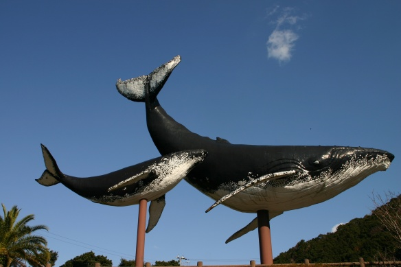 The iconic whales at the entrance of Taiji (Photo: Japan Focus.org)