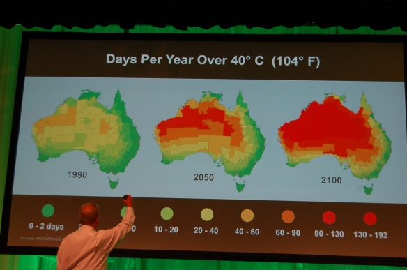 Al Gore presents the State of the Climate during the 25th Climate Reality Leadership Corps Training in Melbourne.