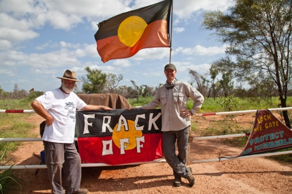 Signs not to frack Aboriginal land. (Photo:Supplied)